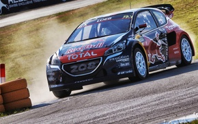 Picture Turn, Peugeot, Peugeot, Loeb, 208, WorldRX