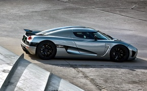 Picture grey, wing, Koenigsegg, supercar, rear view, hypercar, Agera R, Agera R, Koenigsegg