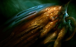 Picture face, hand, monster, art, H. R. Giger, Giger