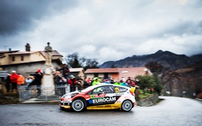 Picture Ford, Auto, Road, The city, Sport, People, Ford, Race, WRC, Rally, Fiesta, Overcast