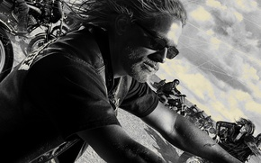 Picture Crew, Sons of Anarchy, Man, Glasses, Bikes, SOA, Beard, SAMCRO, Redwood, Jax