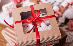 Picture holiday, box, gift