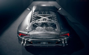 Picture Lamborghini, Supercar, Rear, Transparent, Huracan, LP610-4