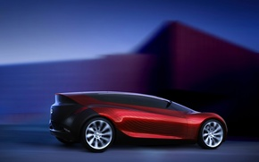 Wallpaper red, speed, Mazda, sport, Concept, Ryuga