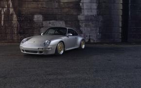 Picture Porsche, 993, Gold, Wheels