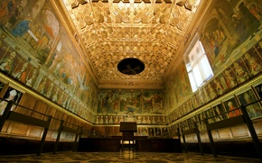 Picture hall, Spain, Toledo, Cathedral, Capitol chamber