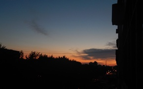 Picture night, the city, morning, Dawn, Ekaterinburg