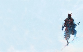 Wallpaper background, katana, warrior, samurai