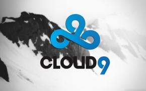 Picture background, mountain, logo, bokeh, csgo, dota 2, snow, cs go, cloud9