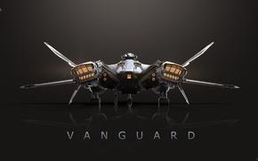 Picture Star Citizen, space ship, Vanguard