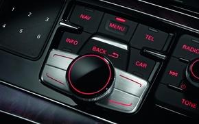 Wallpaper auto, view inside, audi-а8, Wallpaper, button