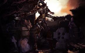 Picture cemetery, corpses, diablo 3, crossbow, demon hunter, reaper of souls, Diablo 3: Reaper of Souls, …