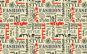 Picture style, letters, font, words, fashion style