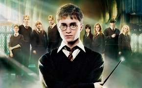 Picture Emma Watson, Daniel Radcliffe, Rupert Grint, Harry Potter and the order of the Phoenix, Zhou ...