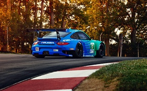 Wallpaper RSR, GT3, Track, Spoiler, Competition, Widebody, Sportcar, 911, Porsche, Team, Trees, Hawks