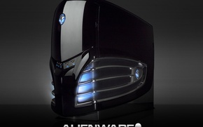 Picture light, design, sign, neon, Alienware, the system unit