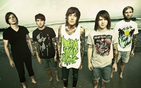 Picture deathcore, metalcore, post-hardcore, Bring me the horizon, oliver sykes, Oliver Sykes