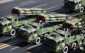 Wallpaper sun China, MLRS, parade