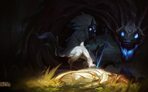 Picture wolf, sheep, League of legends, Kindred