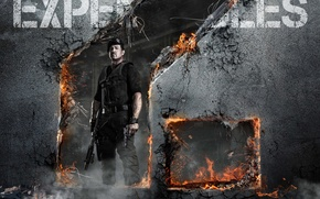 Wallpaper The Expendables 2, Barney Ross, Sylvester Stallone, Sylvester Stallone, The expendables 2