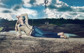 Picture relax, jeans, windmill, Tan S Gargantin