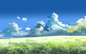 Picture summer, Makoto Xingkai, the clouds