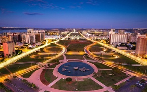 Picture night, lights, home, Brasilia