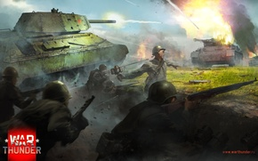 Picture T-34, War Thunder, Panfilov,