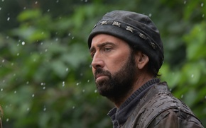 Picture hat, blur, Nicolas Cage, beard, Nicolas Cage, In exile, Outcast