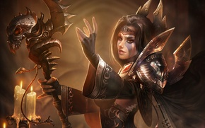 Picture girl, World of Warcraft, wow, necromancer, Jandice Barov