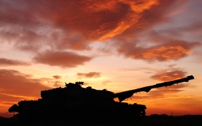 Picture sunset, background, tank