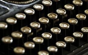 Picture vintage, retro, machine, typewriter, button, old, retro, printed, old, keys, vintage
