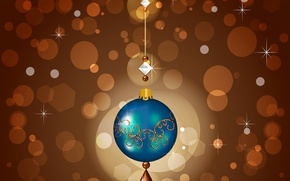 Picture collage, toy, new year, vector, ball, decoration, holidays
