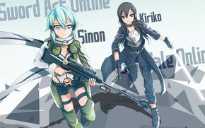 Picture sword, pistol, game, anime, pretty, sniper, asian, lightsaber, rifle, manga, japanese, Sword Art Online, Kirito, …