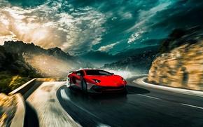 Picture Lamborghini, Aventador, Custom, Drifting, LP-750-4, Surercar