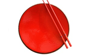 Picture red, Dishware, Chopsticks