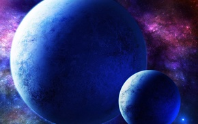 Picture space, planet, space, art