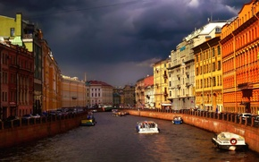 Picture Sink, Saint Petersburg, channel, Russia, cloud, Russia, St. Petersburg