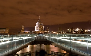 Picture water, bridge, lights, lights, England, London, building, the evening, Europe, UK, water, Europe, evening, capital, …