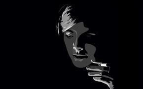 Picture girl, smoky, black.smoke
