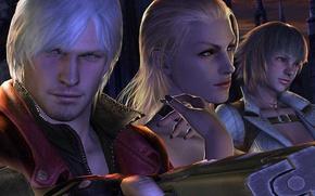 Picture face, Lady, Dante, DMC, Dante, Devil may cry 4, Trish