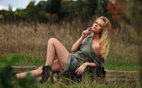 Picture look, girl, cigarette