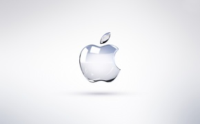 Picture Apple, Glass, Bright Apple, Logo