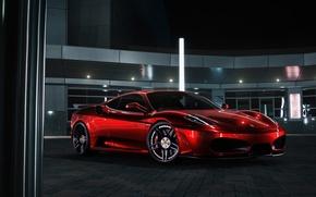 Picture F430, Ferrari, Red, Front, Color, Supercar, Chrome