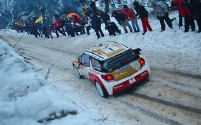 Wallpaper rally, wrc, citroen, snow, 2013, Monte-Carlo, ds3