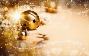 Picture stars, decoration, lights, lights, balls, new year, new year, balls, stars, decoration, ornaments, Golden Christmas, …