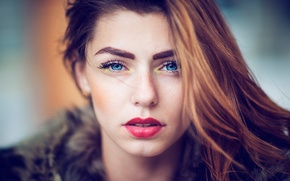 Picture portrait, makeup, the beauty, natural light, Just look
