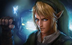 Picture look, elf, sword, fairy, guy, The Legend of Zelda, Link