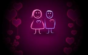 Wallpaper love, heart