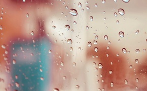 Picture glass, drops, rain